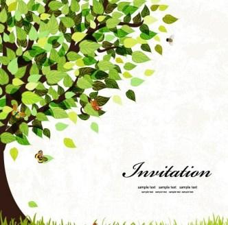 Spring Big Green Tree Vector Illustration