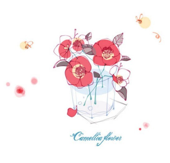 Hand Drawn Camellia Flower Vector Illustration