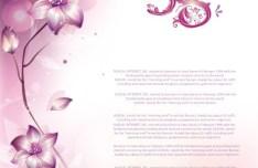 Pink Flower International Women's Day Background Vector 02