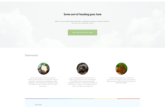 Super Simple Clean Landing Page Template PSD