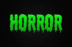Green Horror Text Effect PSD