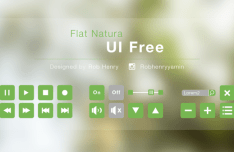Flat Green Natura UI Elements PSD