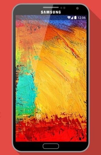 Flat Long Shadow Samsung Galaxy Note III Mockup PSD