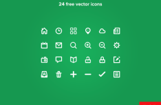 24 Vector Lineart Icons