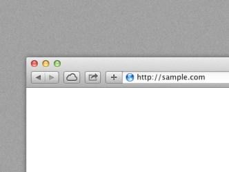 Safari Browser Template PSD
