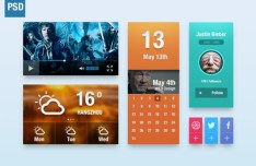 Pretty Colorful UI Elements PSD
