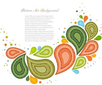 Colorful Abstract Leaves Illustration Vector