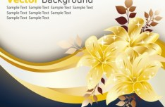 Golden Flower Background Vector