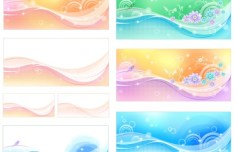 10 Simple Clean Flower Backgrounds Vector