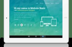 Modern & Clean Horizontal Resume Template PSD