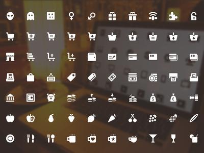 100 UI Icon Set PSD