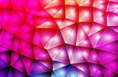 Sparkling Colorful Abstract Triangles Background Vector 03