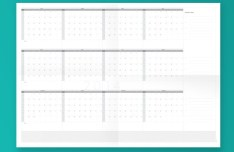 Flat 2014 Calendar Template Vector PDF