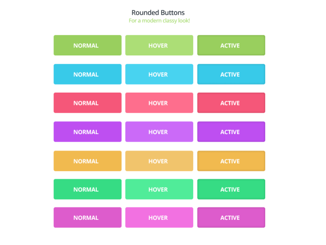 Flat Rounded Web Buttons PSD