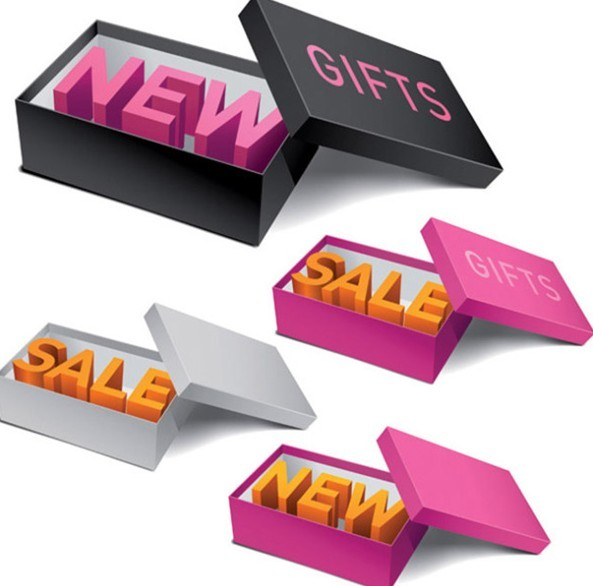 Gift Box New Product & Sale Icons Vector