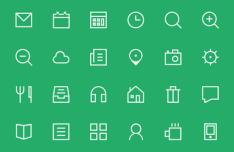 24+ Thin Icon set PSD