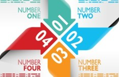 Creative Colorful Number Labels Vector 01