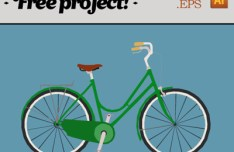 Vector Green Bike Illustration