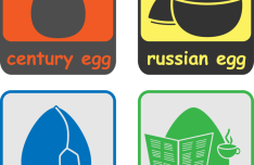 4 Easter Egg Icons Vector