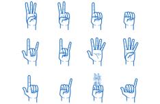 Hand Gesture Pack Vector