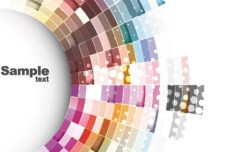 Circular Color Palette Background Vector