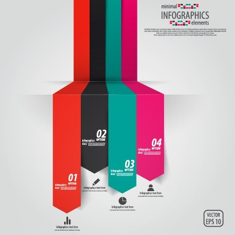 Minimal Infographics Data Option Elements Vector 01
