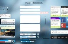 Sharp UI Kit PSD