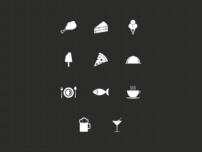 10+ Minimal Food Icons PSD