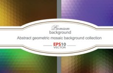Colorful Abstract Geometric Mosaic Background Vector