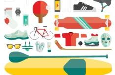 Flat Sport Illustrations Vector