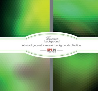 Green Abstract Geometric Mosaic Background Vector