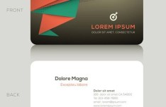 Modern Geometric Business Card Template Vector