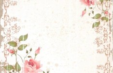 Retro Rose Frame Vector