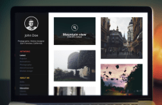Dark Portfolio Website Template PSD