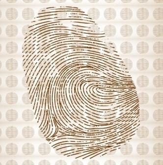 Brown Fingerprint Vector