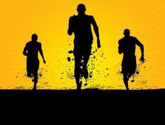 Running Men Silhouette Vector