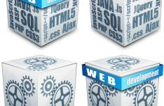3D Web Cubes Vector 02
