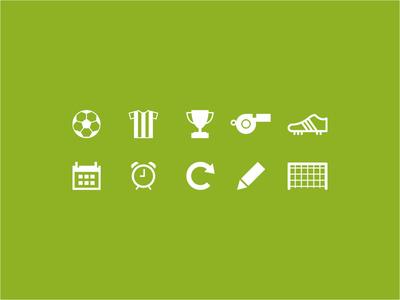 10 Soccer Icons (PSD+Vector)