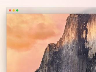 Mac OS X 10.10 Yosemite Frame PSD
