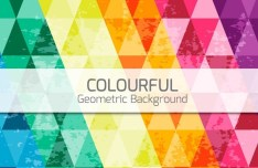Colorful Grunge Geometric Background Vector