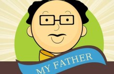Cartoon My Father Vector Illustration