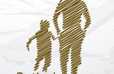 Hand Drawn Father's Day Silhouette Vector