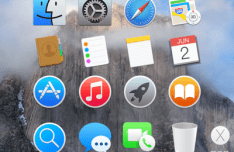 OS X Yosemite Dock Icons PSD