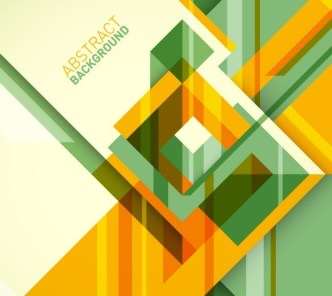 Flat Abstract Geometry Background Vector