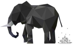 Low Polygon Elephant Vector