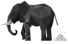 Low Polygon Elephant Vector
