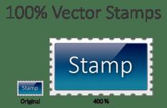 Sleek Stamp Vector PSD