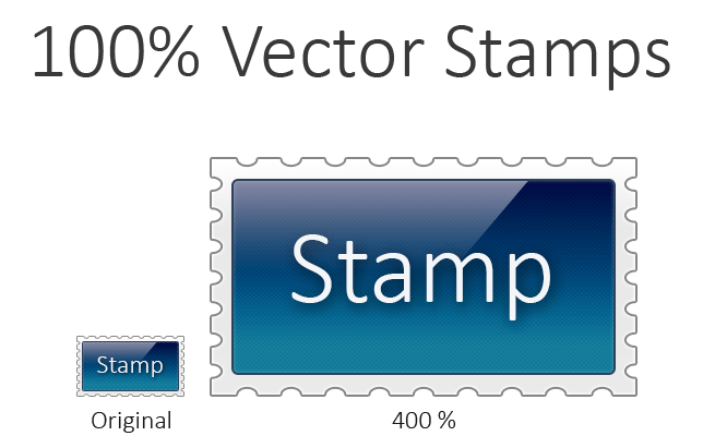 Sleek Stamp Vector PSD