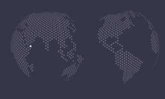 Dotted World Map Vector 05