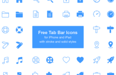 Tab Bar Icons For iPhone and iPad
